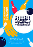 PrintVector bowling tournament banner, poster or flyer design template. Stock Photography