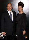 Prinz Albert II und Debra Messing Lizenzfreie Stockbilder