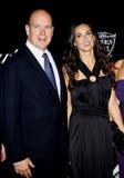 Prinz Albert II und Demi Moore Stockfoto