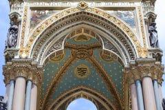 Prinz Albert Memorial, dekorative Details, Kensington-Gärten, London, Vereinigtes Königreich Lizenzfreies Stockfoto
