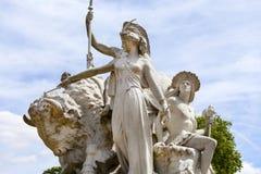 Prinz Albert Memorial, Kensington-Gärten, London, Vereinigtes Königreich Stockfotos