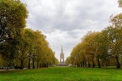 Prinz Albert Statue an Kensington-Gärten stockfotografie