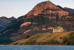 Prinz des Wales-Hotels in Waterton Seen Lizenzfreies Stockfoto