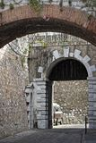 Prinz Edwards Gate in Gibraltar stockbilder