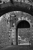 Prinz Edwards Gate in Gibraltar Stockbild