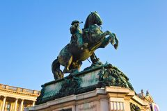 Prinz Eugene StatueLow Angle Lizenzfreies Stockbild