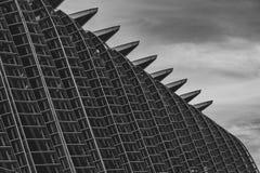 Prinz Felipe Science Museum in Valencia lizenzfreie stockbilder