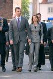 Prinz Filipe Burbon und Prinzessin Leticia Ortiz Lizenzfreies Stockfoto