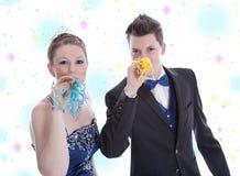 Prinz und Prinzessin auf Karneval oder Königin und Königkostüm Lizenzfreies Stockbild