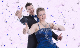 Prinz und Prinzessin auf Karneval oder Königin und Königkostüm Stockfotografie