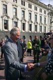 Prinz von Wales-Besuch nach Auckland Neuseeland lizenzfreie stockfotografie