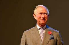 Prinz von Wales-Besuch nach Auckland Neuseeland lizenzfreie stockfotos