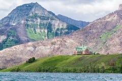 Prinz von Wales-Hotel im Waterton See, Kanada lizenzfreies stockfoto