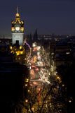 Prinzen Street, Edinburgh, Schottland Lizenzfreie Stockfotos