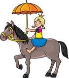 Prinzessin auf dem Pferd Lizenzfreie Stockfotografie