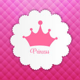 Prinzessin Background mit Kronen-Vektor Lizenzfreies Stockbild