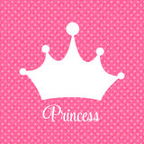 Prinzessin Background mit Kronen-Vektor-Illustration Lizenzfreie Stockfotos