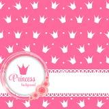 Prinzessin Crown Background Vector Illustration Lizenzfreies Stockfoto