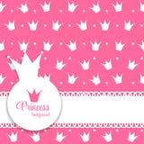 Prinzessin Crown Background Vector Illustration Lizenzfreie Stockfotos