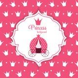 Prinzessin Crown Background Vector Illustration Stockfotografie