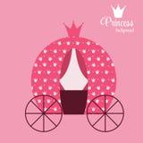 Prinzessin Crown Background Vector Illustration Lizenzfreie Stockfotografie