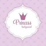 Prinzessin Crown Background Vector Illustration Stockfoto