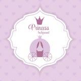 Prinzessin Crown Background Vector Illustration Stockfotos