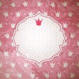 Prinzessin Crown Background Vector Illustration Stockbilder