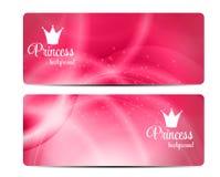 Prinzessin Crown Background Vector Illustration Lizenzfreie Stockbilder