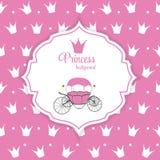 Prinzessin Crown Background Vector Illustration Stockbild