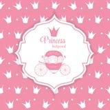 Prinzessin Crown Background Vector Illustration Lizenzfreies Stockbild