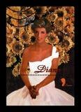 Prinzessin Diana, circa 1997, Beitragsstempel von Liberia lokalisierte auf Weiß, Stockbild