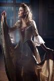 Prinzessin in ihrem Schloss Stockbild
