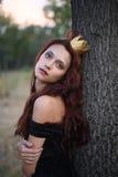 Prinzessin im Wald Lizenzfreie Stockbilder