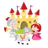 Prinzessin Knight Castle vektor abbildung