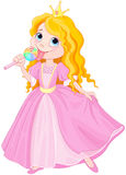 Prinzessin leckt Lutscher Lizenzfreies Stockbild