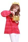 Prinzessin mit papper Krone Lizenzfreies Stockfoto