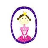 Prinzessin mit rabbir Lizenzfreies Stockfoto