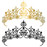 Prinzessin Tiara Crowns Vector Illustration Stockfoto