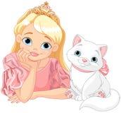 Prinzessin und Katze Lizenzfreie Stockbilder