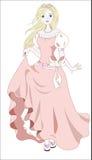 Prinzessin und Wind Stockbilder
