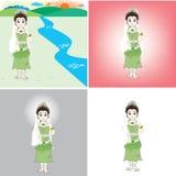 Prinzessinkarikatur Vektor Abbildung