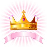 Prinzessinkronenkarte Stockfoto