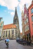 Prinzipalmarkt historyczny rynek w MÃ ¼ nster, Niemcy Zdjęcia Royalty Free