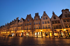 Prinzipalmarkt square at Muenster by night Stock Image