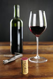 Priorat Cork and red Wine Stock Photography