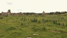 Priorato de Athassel, un monasterio arruinado en los prados irlandeses almacen de metraje de vídeo