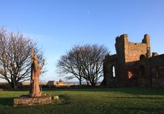 Priorato de Lindisfarne Imagen de archivo libre de regalías