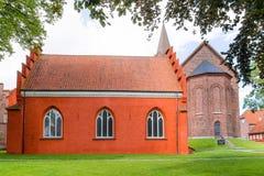 Priore e chiesa domenicani in Holbaek, Danimarca fotografia stock libera da diritti