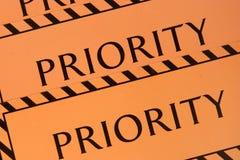 Prioridade da etiqueta imagem de stock royalty free